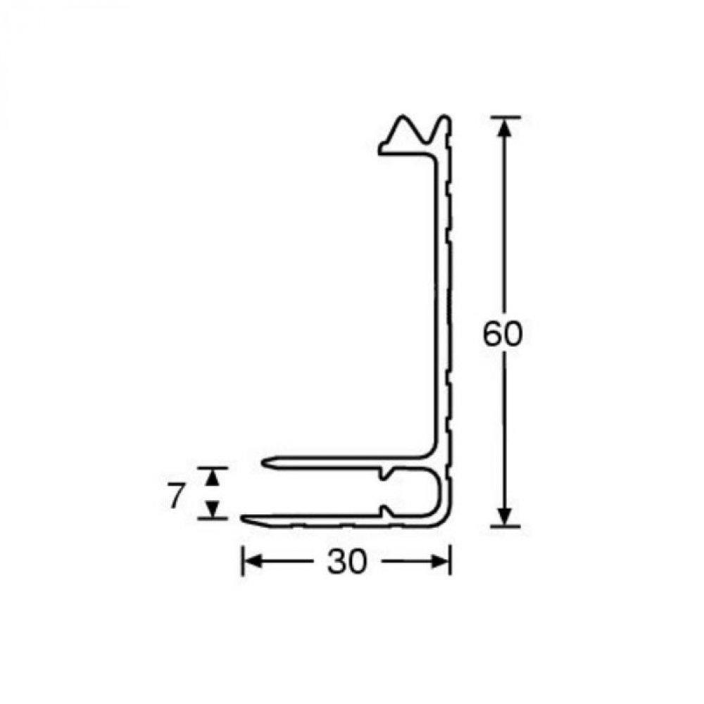 adam hall 6122 aluminium kastenrahmen 30x60 mm f r 7 mm material. Black Bedroom Furniture Sets. Home Design Ideas