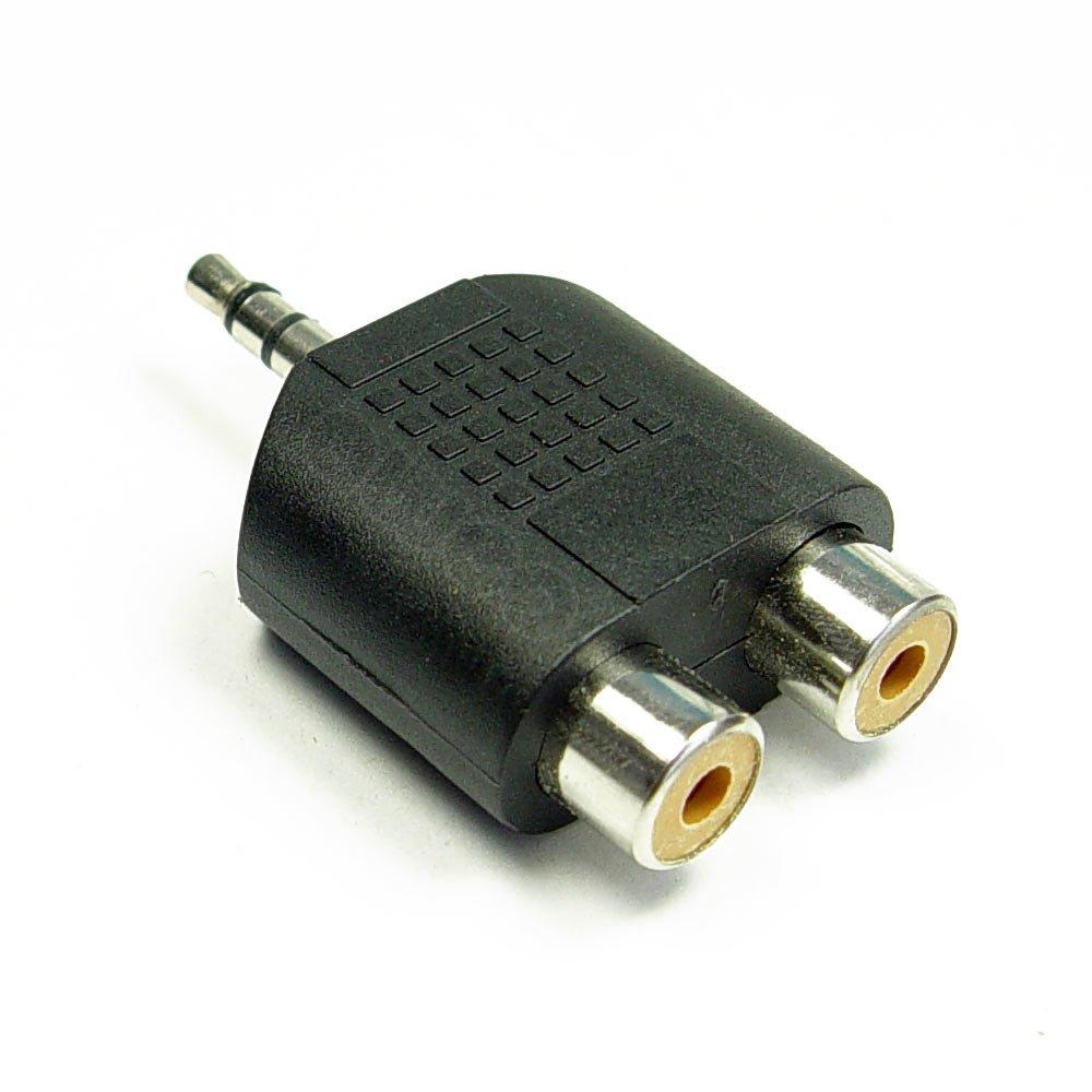 audio adapter 2x cinchbuchse auf 3 5 mm klinkenstecker stereo. Black Bedroom Furniture Sets. Home Design Ideas