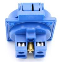 PCE Schuko Einbau-Steckdose mit Klappdeckel blau IP54
