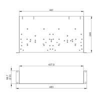 Adam Hall 8755 19 Zoll Rackwanne 2 HE Rackablage 250 mm tief