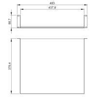 Adam Hall 87552 19 Zoll Rackablage 2 HE Rackwanne 375 mm...