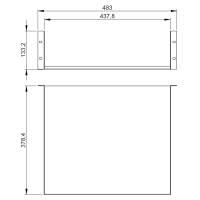 Adam Hall 87553 19 Zoll Rackwanne 3 HE Rackablage 375 mm...