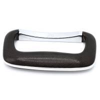 Adam Hall 3438 Koffergriff Kunststoff schwarz silber 135 mm