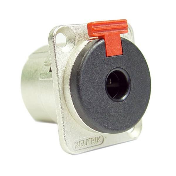 Neutrik NJ3 FP-6-C - 6,3 mm Einbau Klinkenbuchse stereo D-Typ