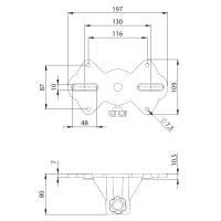 Adam Hall SPS 57 - Boxenflansch Aufbauflansch Kunststoff schwarz