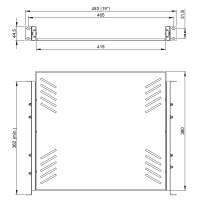Adam Hall 87556 - 19 Zoll Rackablage 1 HE ausziehbar
