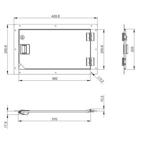 Adam Hall 87600 - Rack Serviceklappe 42 x 25 cm...