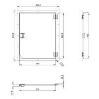 Adam Hall 87601 - Rack Serviceklappe 42 x 50 cm