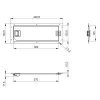 Adam Hall 87602 - Rack Serviceklappe 42 x 16 cm