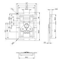 Adam Hall 172511 - V3 Automatik Butterfly Verschluss...
