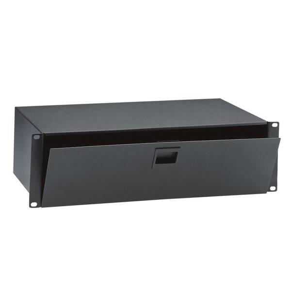 Adam Hall 87302 - 2HE Rackbox 19 Zoll Stahl mit Klappe und Verschluss