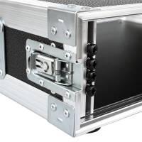 """2 HE Amp Rack 19"""" Double Door 45 CM Flightcase Butterfly gelb"""