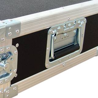 """3 HE Amp Rack 19"""" Double Door 45 CM Flightcase gelb"""