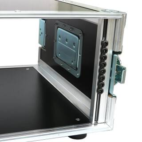 """4 HE Rack Case 19"""" Double Door Rack 45 CM gelb"""