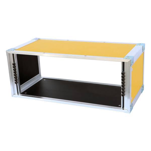 19 Zoll Studio-Rack 23 CM 4 HE Birke MPX gelb