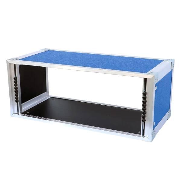 19 Zoll Studio-Rack 23 CM 6 HE Birke MPX blau