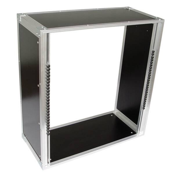19 Zoll Studio-Rack 23 CM 12 HE Birke MPX PVC schwarz