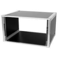 19 Zoll Studio-Rack 40 CM 6 HE Birke MPX Phenol schwarz