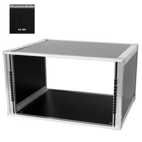 19 Zoll Studio-Rack 40 CM 6 HE Birke MPX PVC schwarz