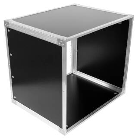 19 Zoll Studio-Rack 40 CM 10 HE Birke MPX PVC schwarz