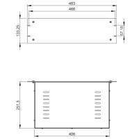 Adam Hall 87409V - 19 Zoll Rack Leergehäuse 3 HE 250...