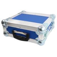 2 HE Half Size Rack für Sennheiser EW Funkempfänger blau