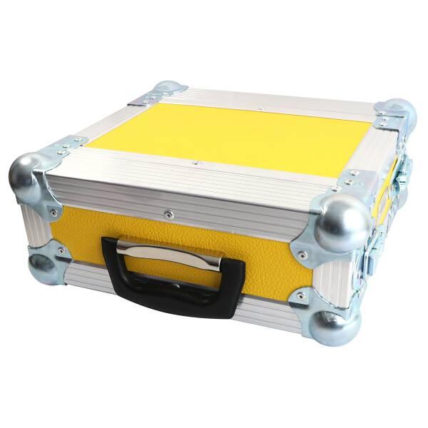 2 HE Half Size Rack für Sennheiser XSW Funkempfänger gelb