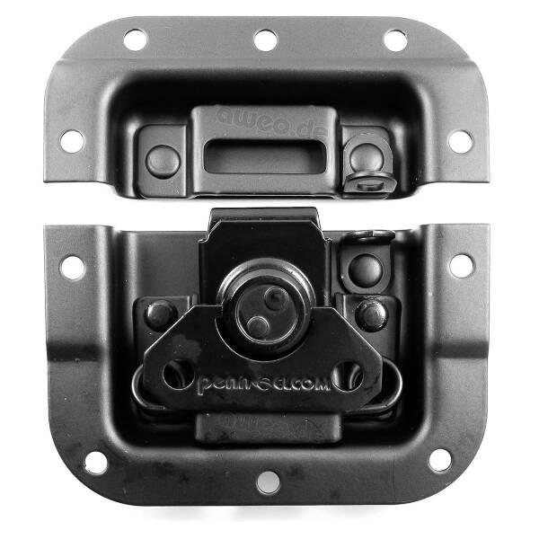 Penn Elcom Black Edition L907/928PBk - Butterfly Verschluss mittel gekröpft mit Öse