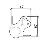 Penn Elcom Black Edition C1339/30k - Kugelecke groß, dreischenklig, gekröpft