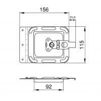 Penn Elcom D0047z Case Serviceklappe klein Stahl verzinkt