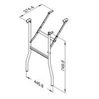 Penn Elcom R1600 - Rack Tischbein klappbar im Casedeckel...