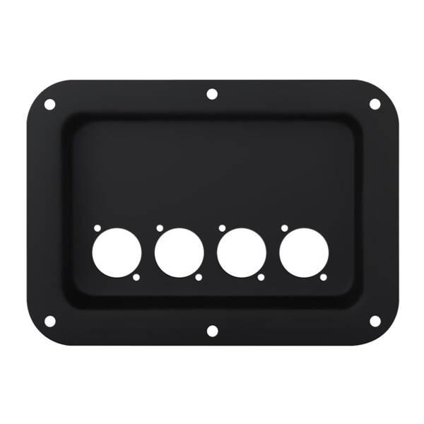 Penn Elcom D024K Boxen Einbauplatte schwarz für 4 D-Typ