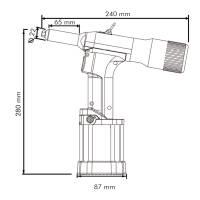 Bralo BNT-3 Blindnietgerät pneumatisch für...