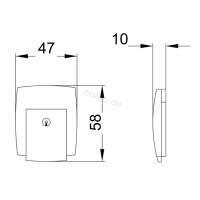 Penn Elcom L0575C - Kofferschloss groß abschließbar verchromt