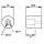 Penn Elcom F1691 - Gummifuß 25 x 25 mm mit Stahleinlage