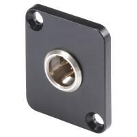 HICON HI-XMDM3 - Mini XLR Einbaustecker 3-Pol mit D-Typ Flansch