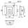 Penn Elcom D0946-10K Einbauplatte schwarz für Netzstecker IECC