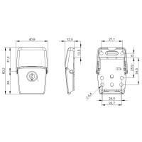 Penn Elcom LG-2270c - Kofferschloss abschließbar verchromt 40 x 60 mm