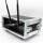 2 HE Half Size Rack für LD Systems U500 Funkempfänger Phenol schwarz