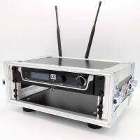 2 HE Half Size Rack für LD Systems U500 Funkempfänger blau