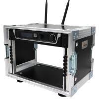 4 HE Half Size Rack für LD Systems U500 Funkempfänger blau