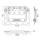 Penn Elcom Black Edition H7165-10k - Klappgriff groß gefedert in Einbauschale 10 mm