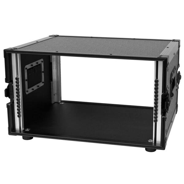 6U Rack All Black 19 Double Door Rack 6 HE 39CM  komplett schwarz