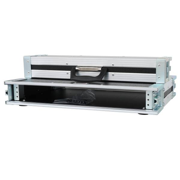1 HE Rack Case 19 Double Door Rack 39 CM 1U grau