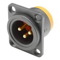 HICON HI-MARLIN - XLR-Einbaustecker 3-pol male IP54 D-Typ
