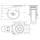 Flightcase Lenkrolle 80 mm Blue Wheel mit Feststeller 130 kg