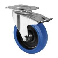 Flightcase Lenkrolle 125 mm Blue Wheel mit Feststeller...