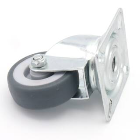 Flightcase Lenkrolle 50 mm mit grauem Rad 50 kg