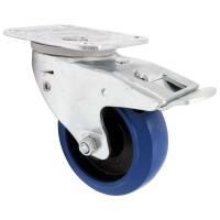 Flightcase Lenkrolle 100 mm Blue Wheel Automatik mit...