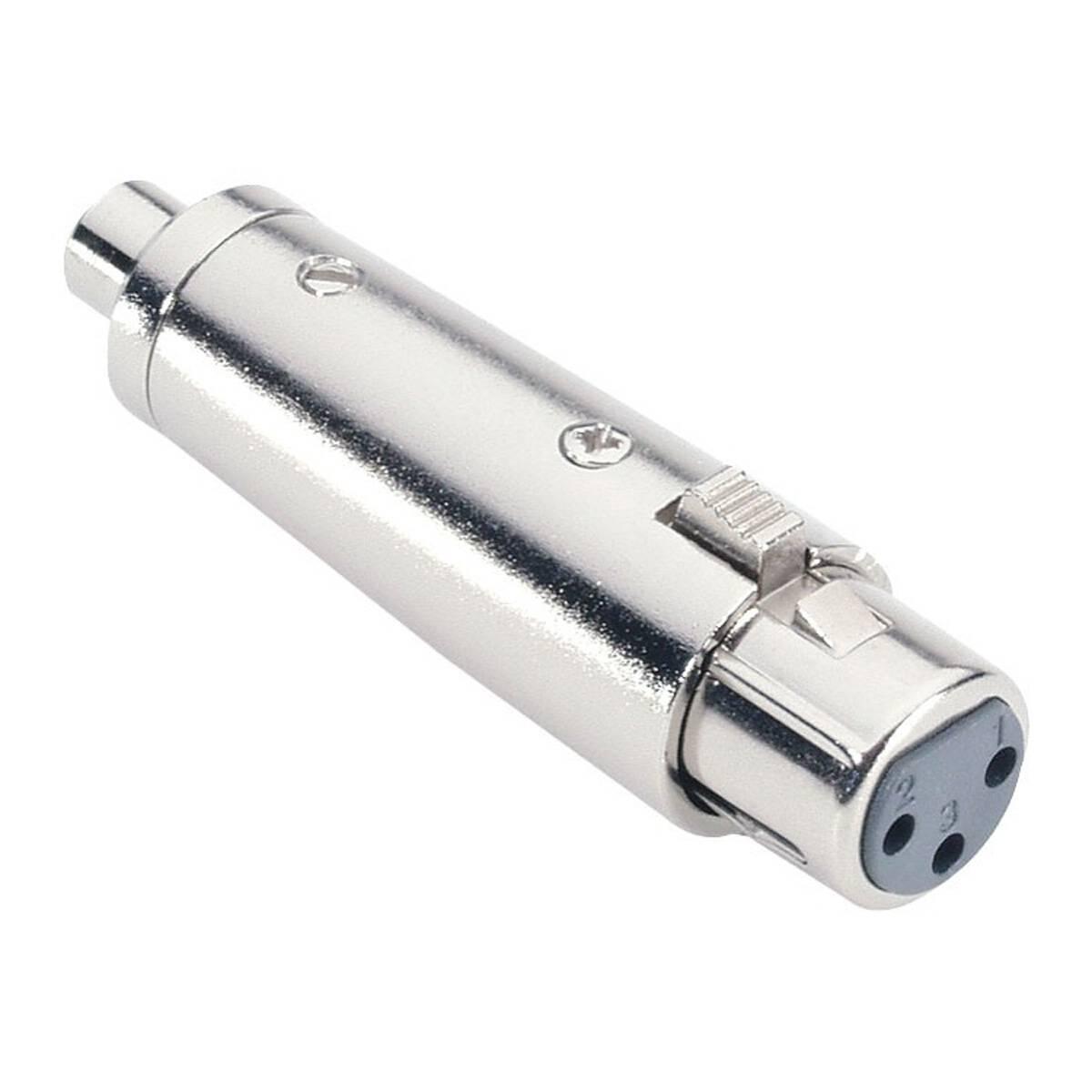 2 Adam Hall Audio Adapter Klinke Buchse 6,3 mm mono an Cinch RCA Stecker silber